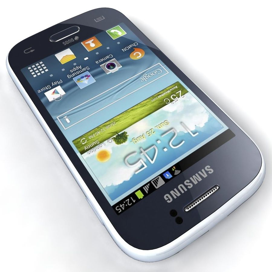 Samsung Galaxy Young S6310 Blue royalty-free 3d model - Preview no. 14