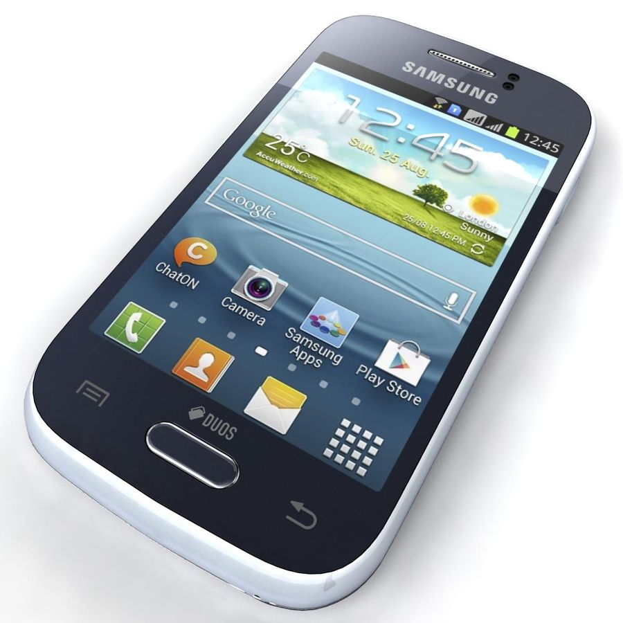 Samsung Galaxy Young S6310 Blue royalty-free 3d model - Preview no. 13