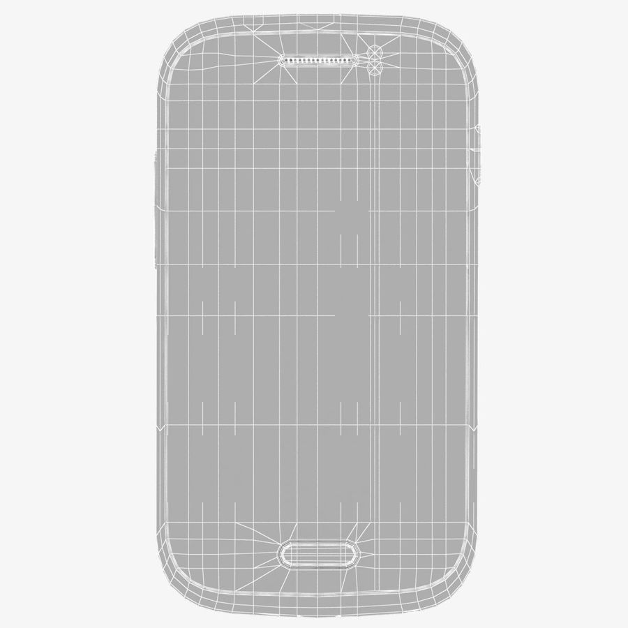 Samsung Galaxy Young S6310 Blue royalty-free 3d model - Preview no. 25