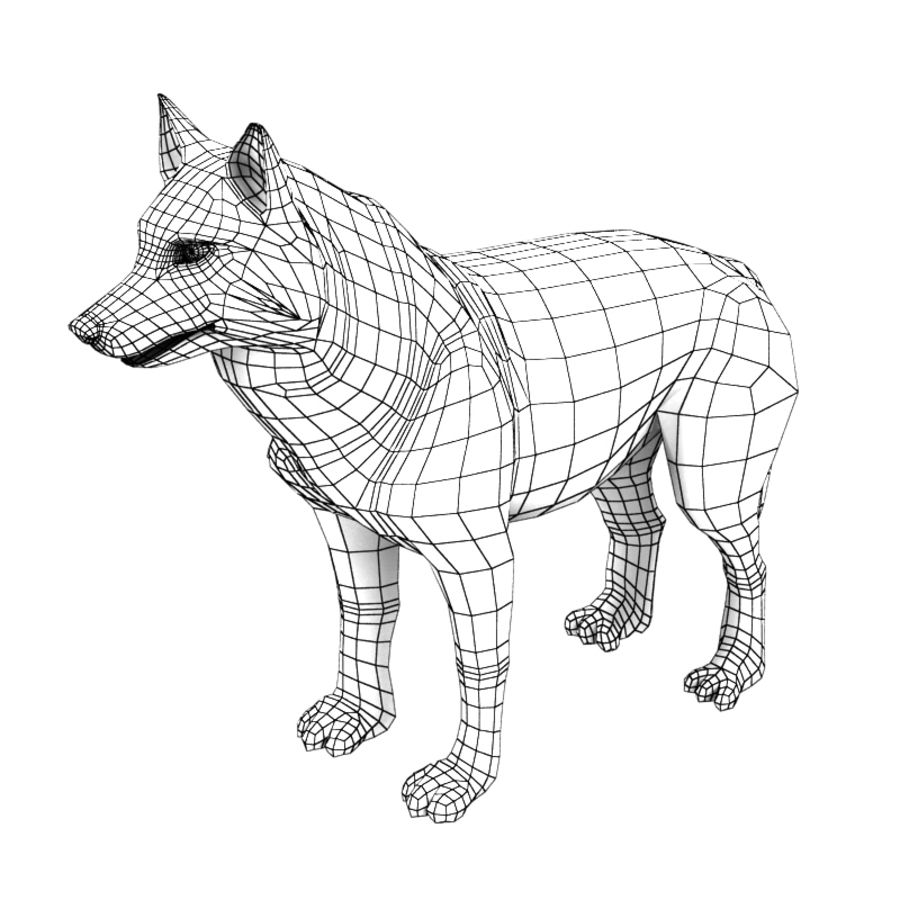 Wolf royalty-free 3d model - Preview no. 6