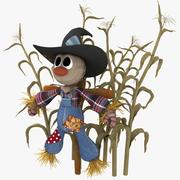 Plush Style Scarecrow 3d model