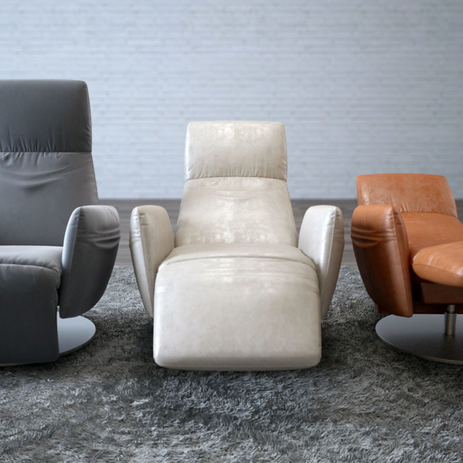 Pillow Poltrona Frau.Poltrona Frau Pillow Reclining Chair 3d 3d Model 35 Max