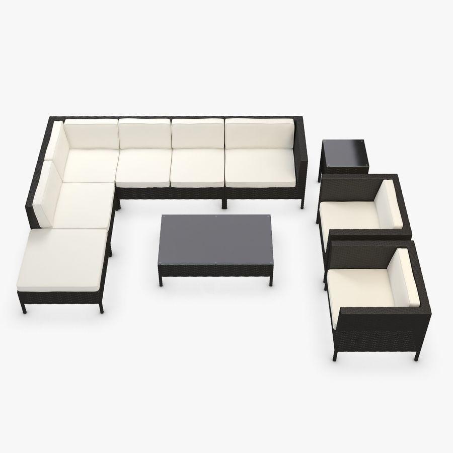 Muebles De Jardin Rincon De Ratan Sintetico Sillon Sofa Mesa De