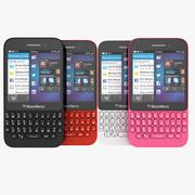 Smartphone Blackberry Q5 QWERTY nei colori nero, bianco, rosso e rosa 3d model