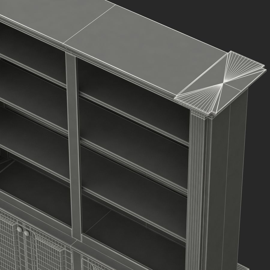 Architectural Bookcase royalty-free 3d model - Preview no. 9