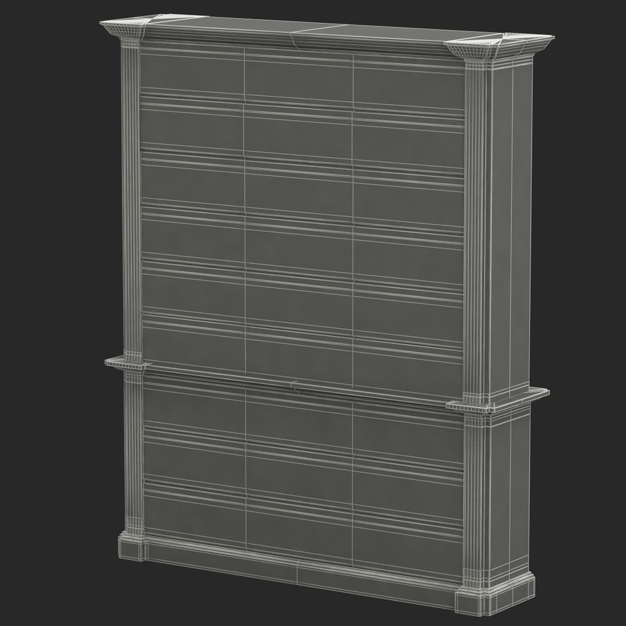 Architectural Bookcase royalty-free 3d model - Preview no. 8