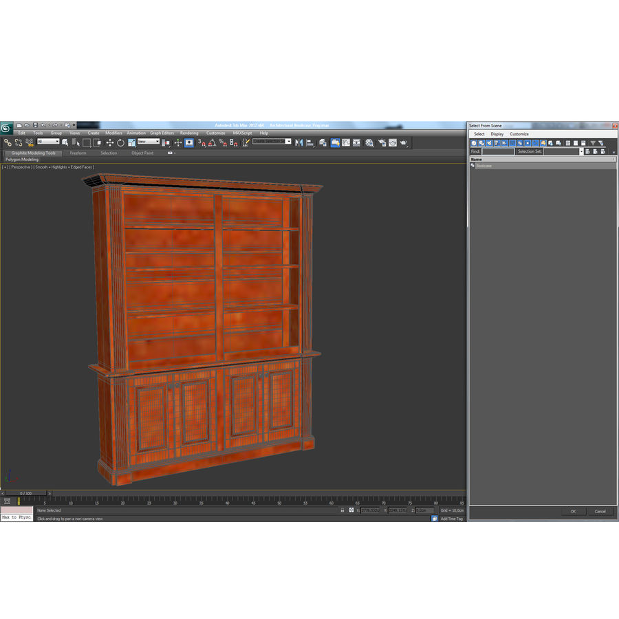 Architectural Bookcase royalty-free 3d model - Preview no. 13