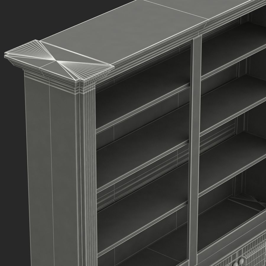 Architectural Bookcase royalty-free 3d model - Preview no. 10