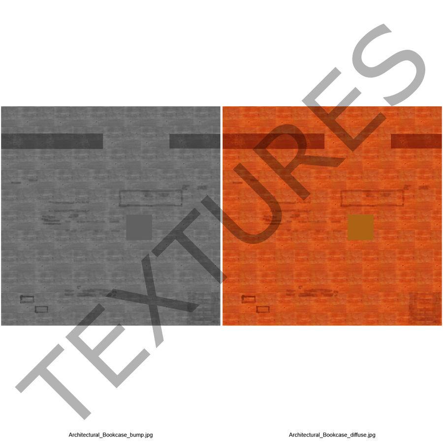 건축 책장 royalty-free 3d model - Preview no. 11