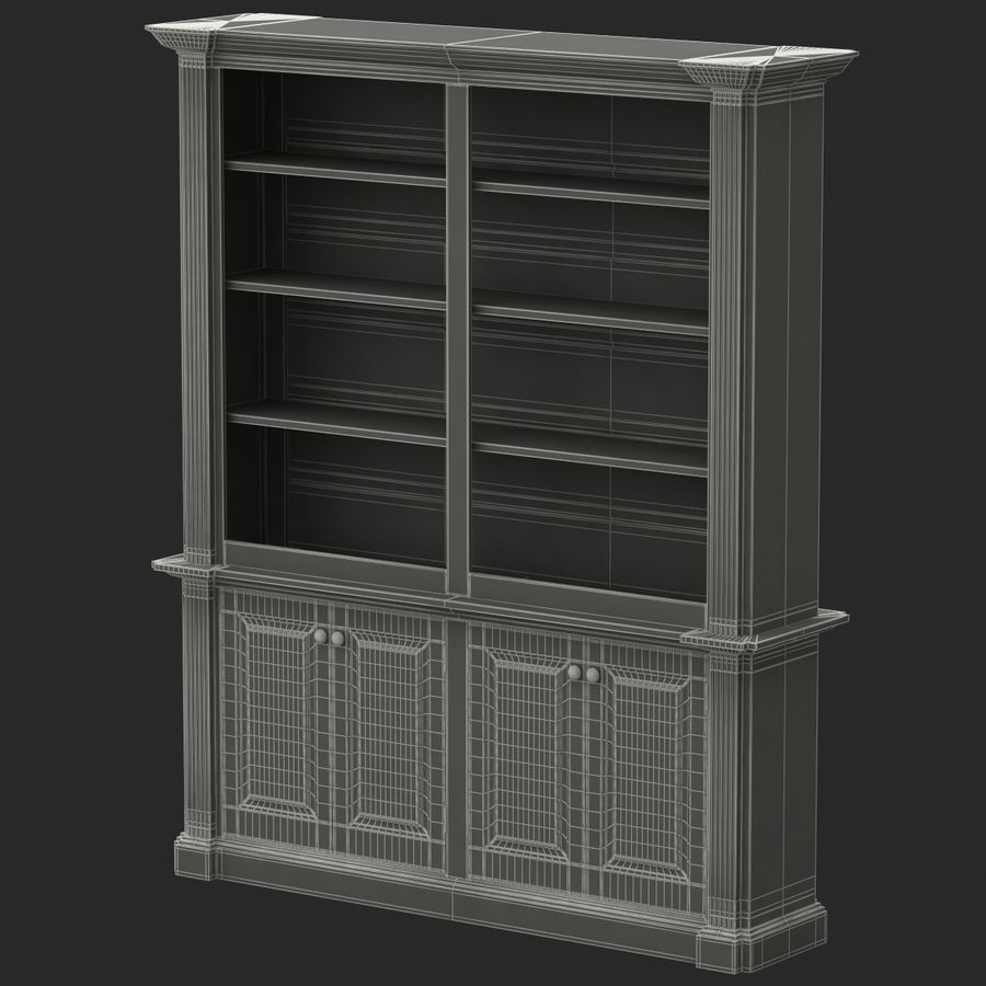 Architectural Bookcase royalty-free 3d model - Preview no. 7