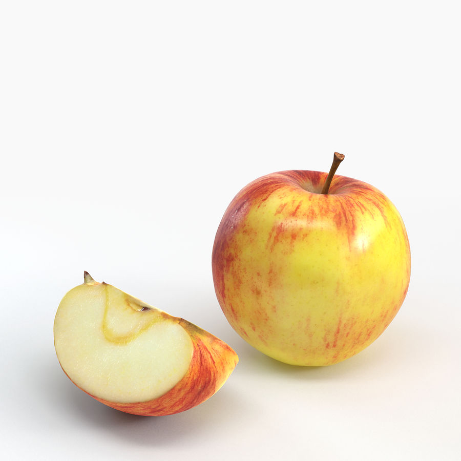 Apples royalty-free 3d model - Preview no. 3