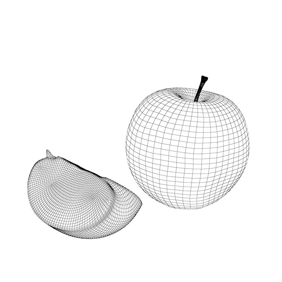 Apples royalty-free 3d model - Preview no. 8