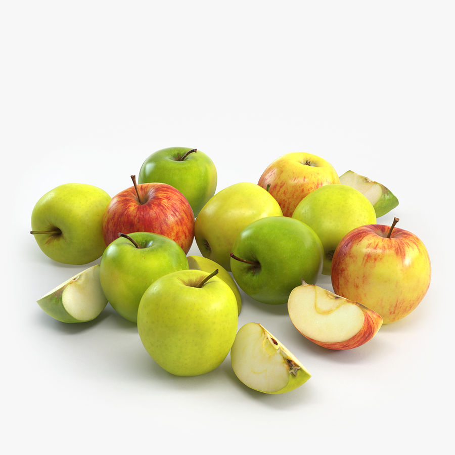 Apples royalty-free 3d model - Preview no. 1