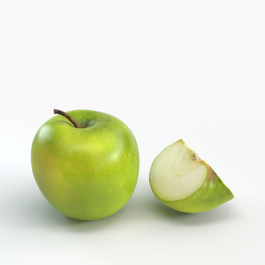 Apples royalty-free 3d model - Preview no. 4