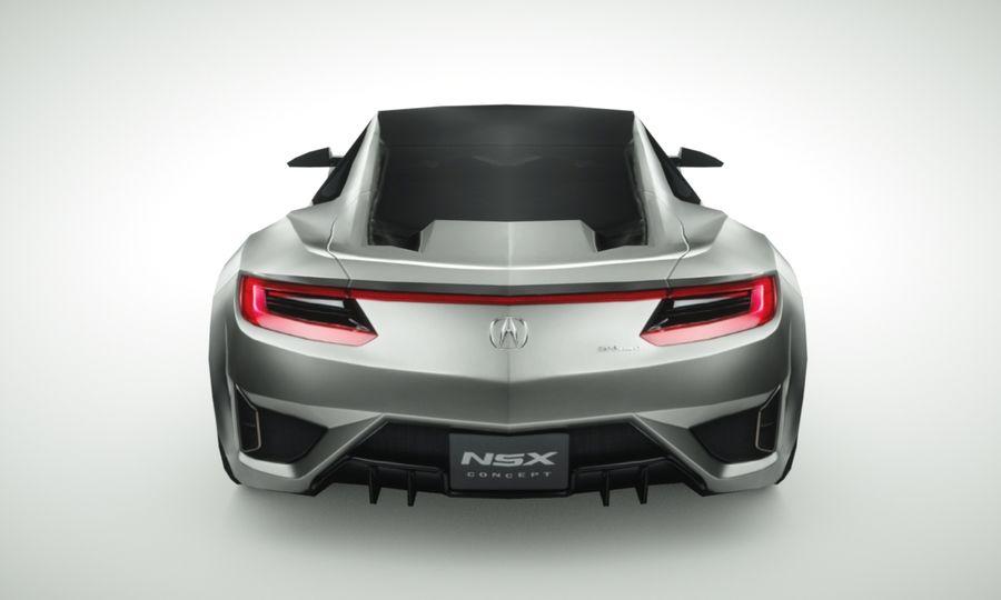 Acura NSX concept 2015 royalty-free modelo 3d - Preview no. 4