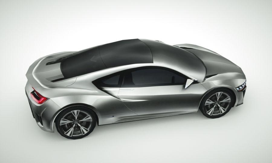Acura NSX concept 2015 royalty-free modelo 3d - Preview no. 3