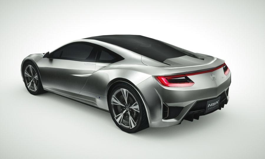 Acura NSX concept 2015 royalty-free modelo 3d - Preview no. 1