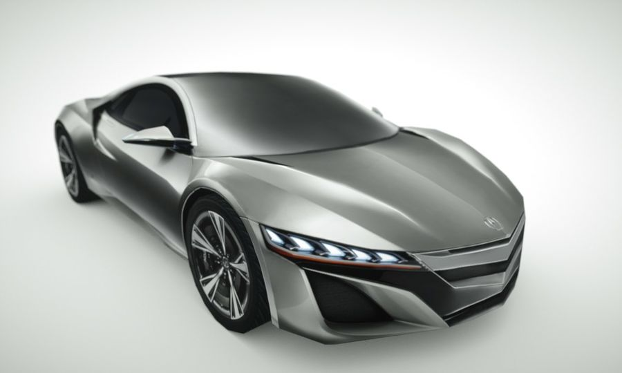 Acura NSX概念2015年 royalty-free 3d model - Preview no. 7