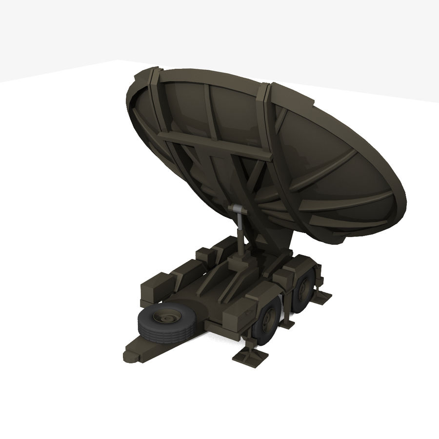 Trailer Mounted Satellite Dish royalty-free 3d model - Preview no. 3