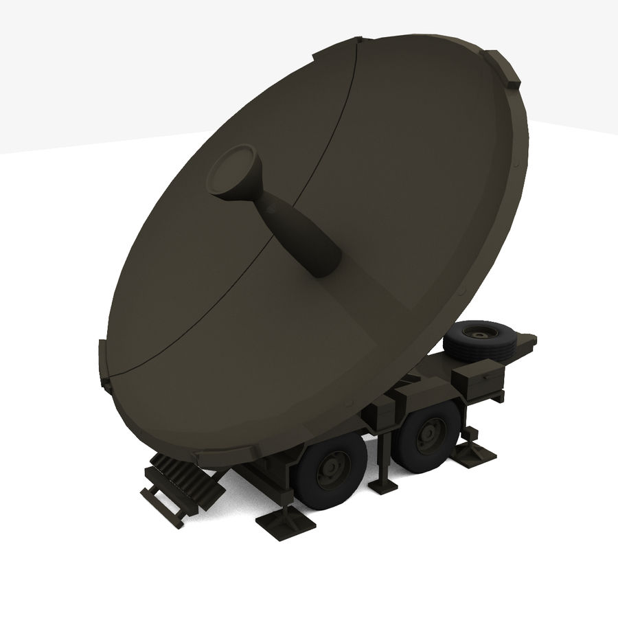 Trailer Mounted Satellite Dish royalty-free 3d model - Preview no. 1