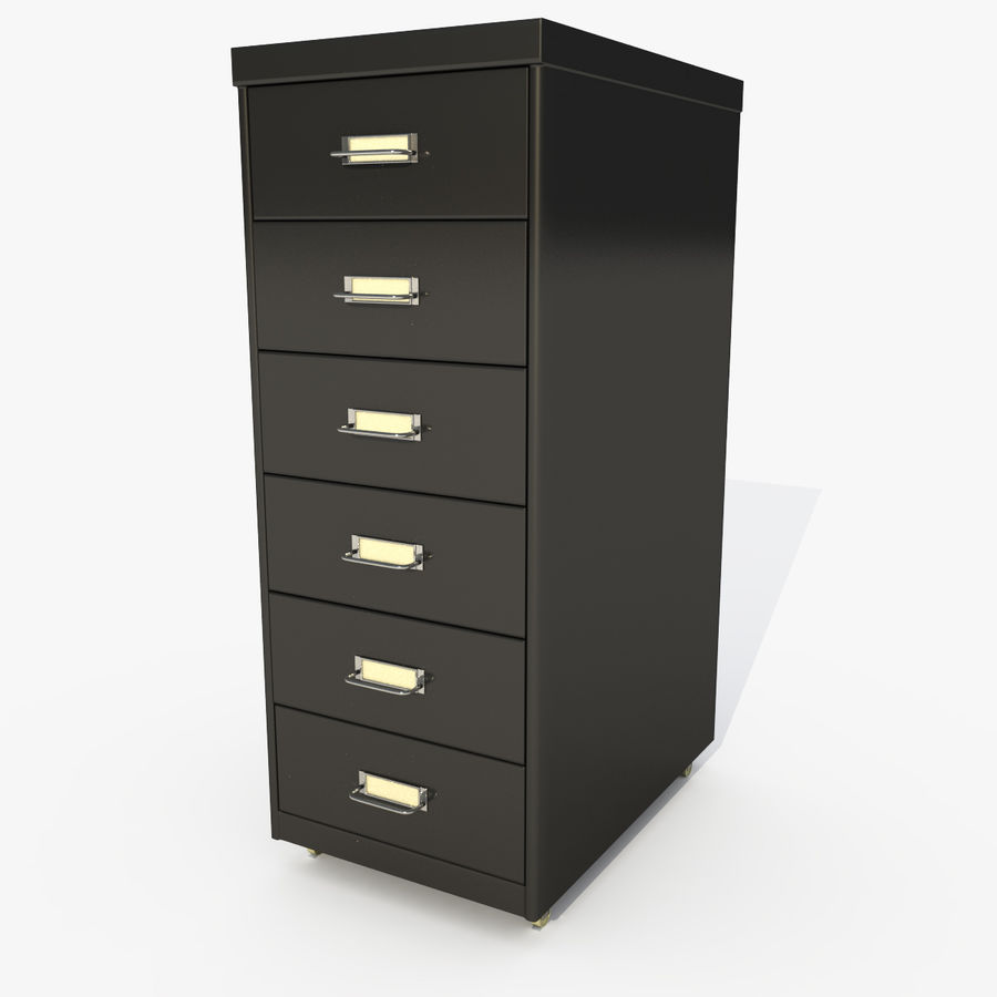 Office Cabinet Drawer Pack royalty-free 3d model - Preview no. 3