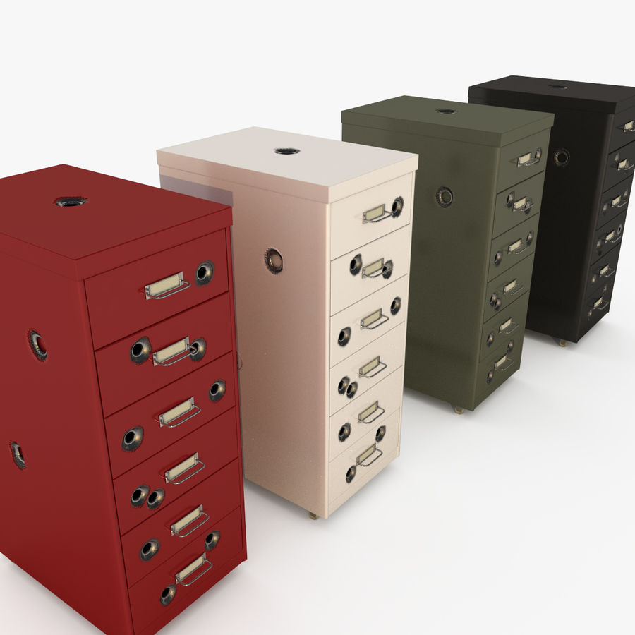 Office Cabinet Drawer Pack royalty-free 3d model - Preview no. 4