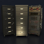 Office Cabinet Drawer Pack 3d model