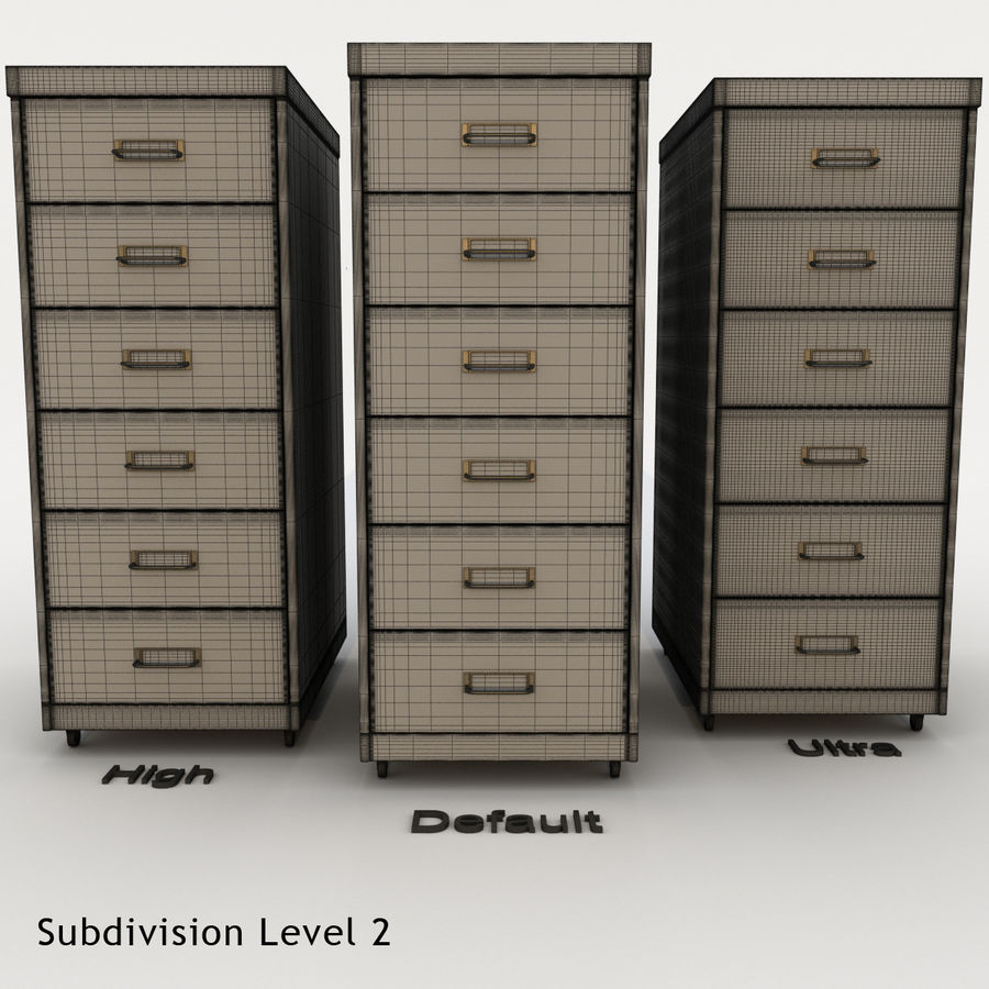 Office Cabinet Drawer Pack royalty-free 3d model - Preview no. 13