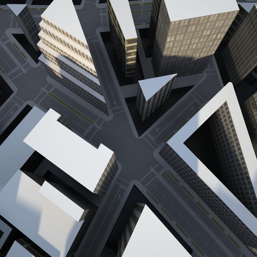 Big city 02 royalty-free 3d model - Preview no. 5