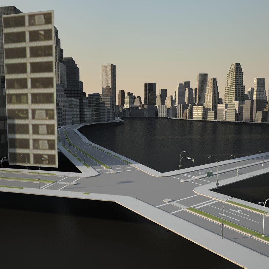 Big city 02 royalty-free 3d model - Preview no. 6