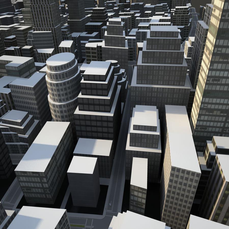 Big city 02 royalty-free 3d model - Preview no. 2