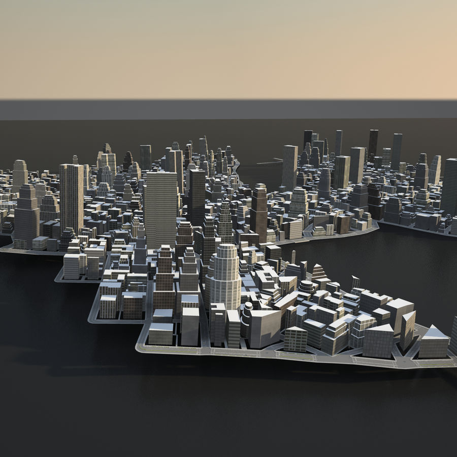Big city 02 royalty-free 3d model - Preview no. 7