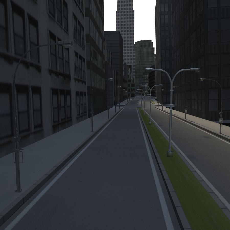 Big city 02 royalty-free 3d model - Preview no. 3