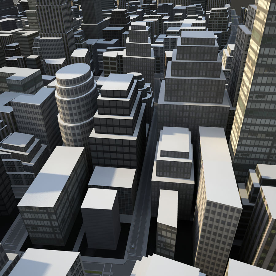 Big city 02 royalty-free 3d model - Preview no. 2