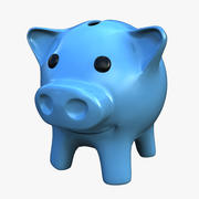 piggy bank statue - ceramic 3d model