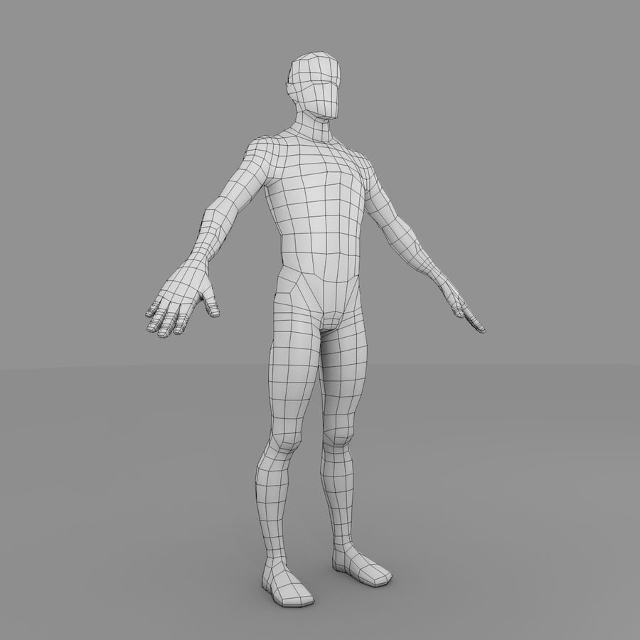Maillage Base Homme royalty-free 3d model - Preview no. 4
