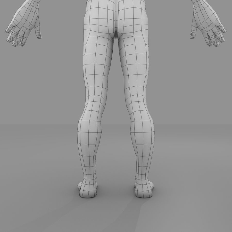 Maillage Base Homme royalty-free 3d model - Preview no. 6