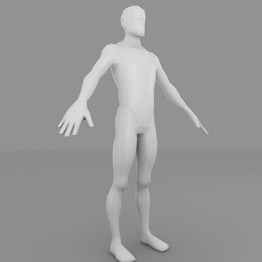 Maillage Base Homme royalty-free 3d model - Preview no. 2