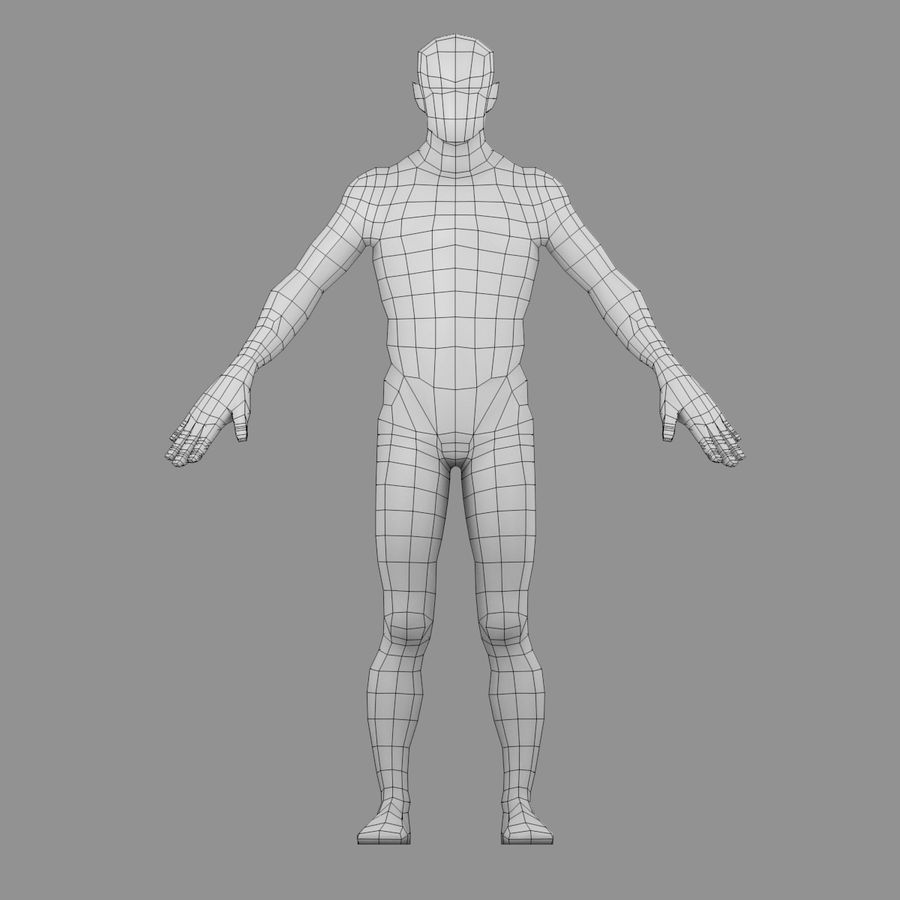 Maillage Base Homme royalty-free 3d model - Preview no. 5