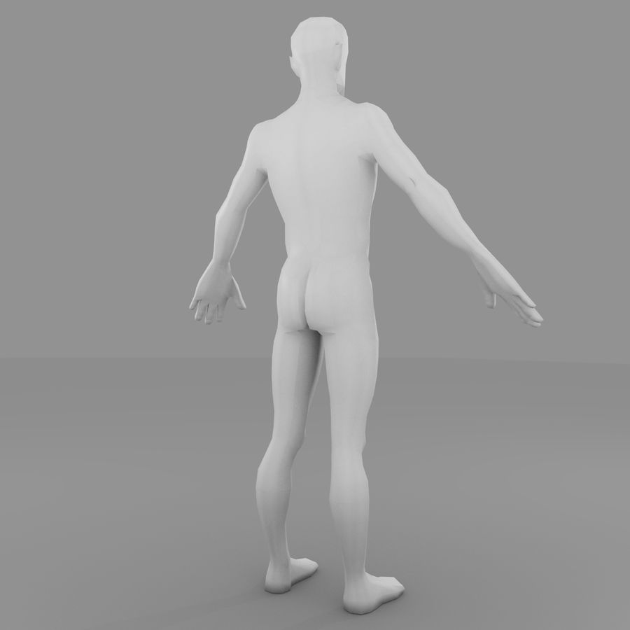 Maillage Base Homme royalty-free 3d model - Preview no. 3