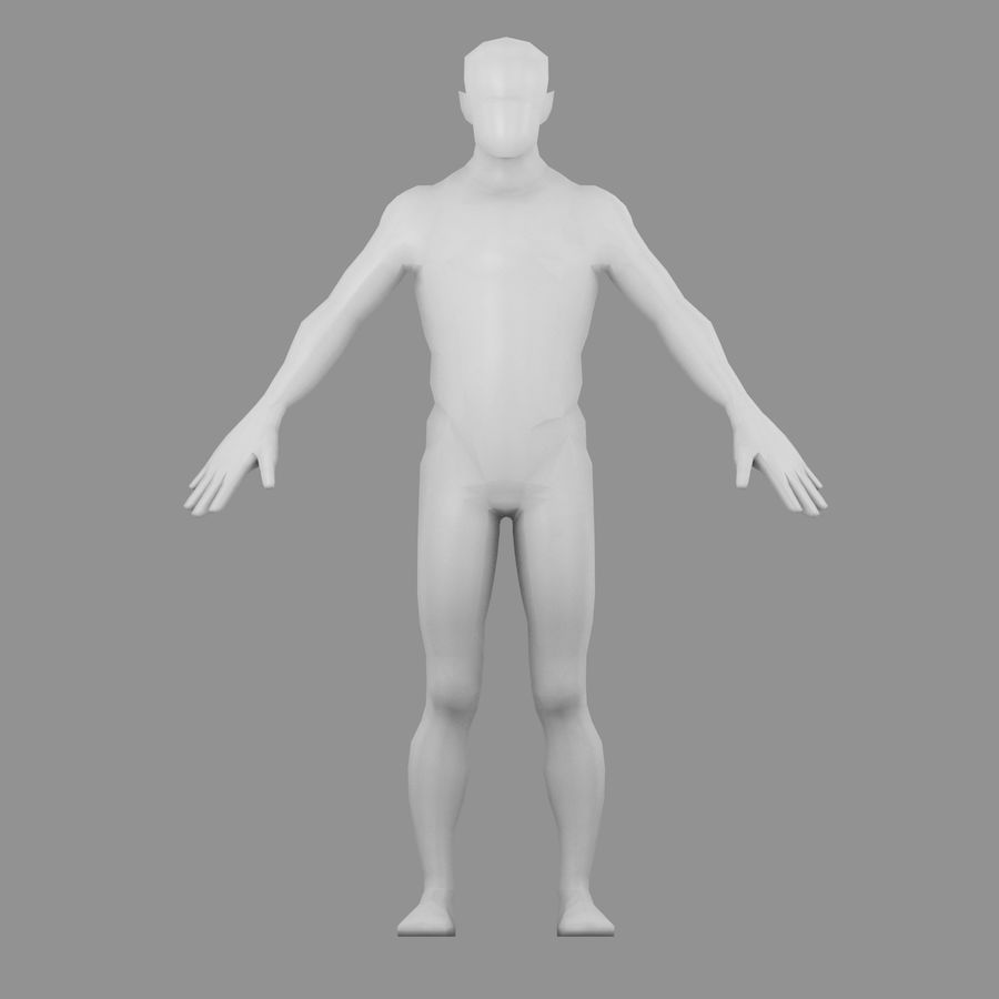 Maillage Base Homme royalty-free 3d model - Preview no. 1
