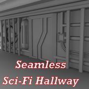 Sci-Fi-muur - lowpoly 3d model