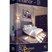 Sängrum Interiör 3d model