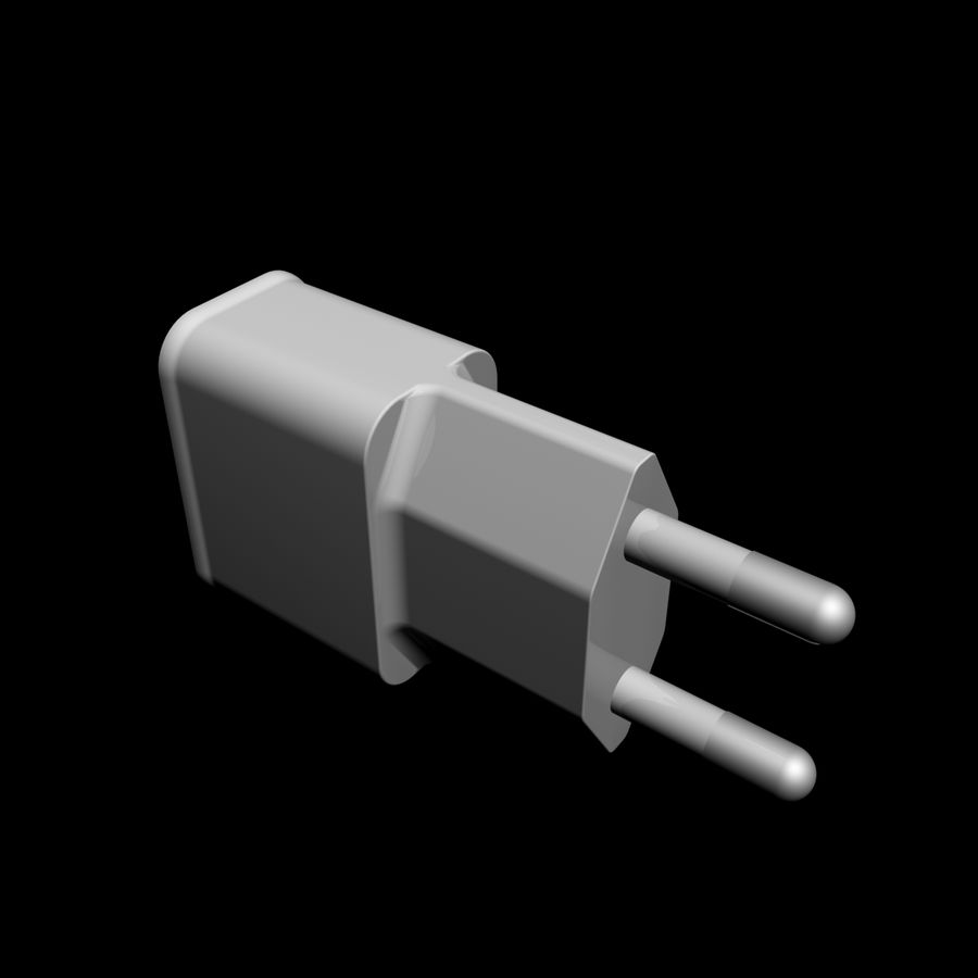 USB-Ladegerät royalty-free 3d model - Preview no. 1