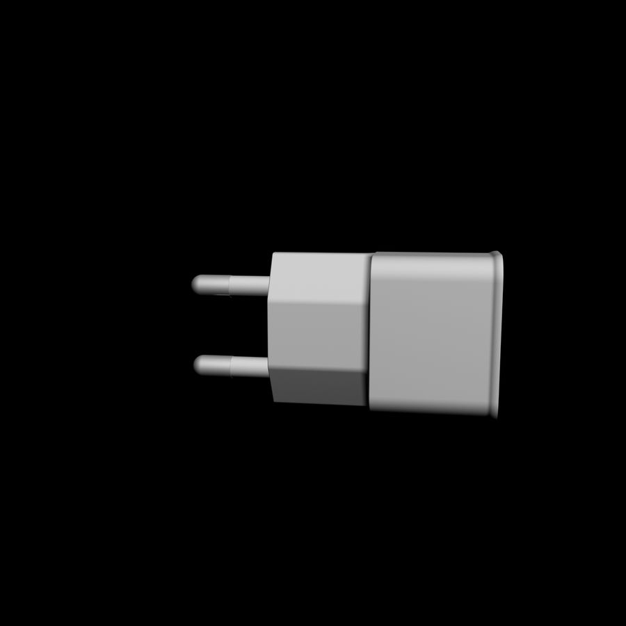 USB-Ladegerät royalty-free 3d model - Preview no. 3