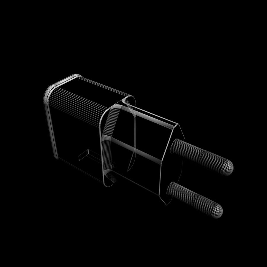 USB-Ladegerät royalty-free 3d model - Preview no. 6