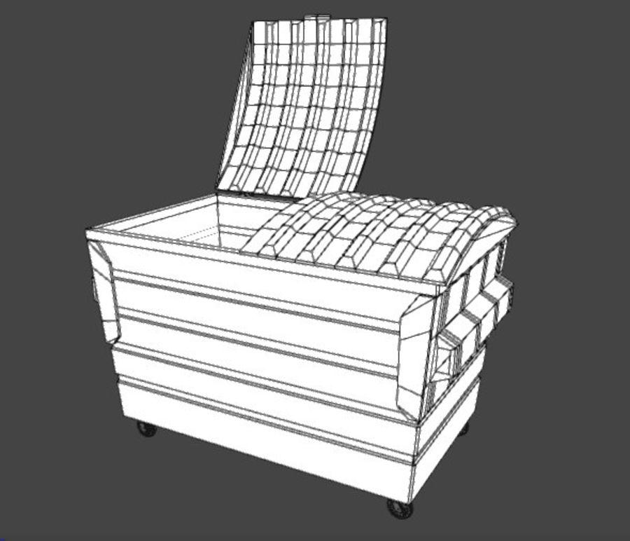 Контейнер для мусора (мусорный контейнер) royalty-free 3d model - Preview no. 6