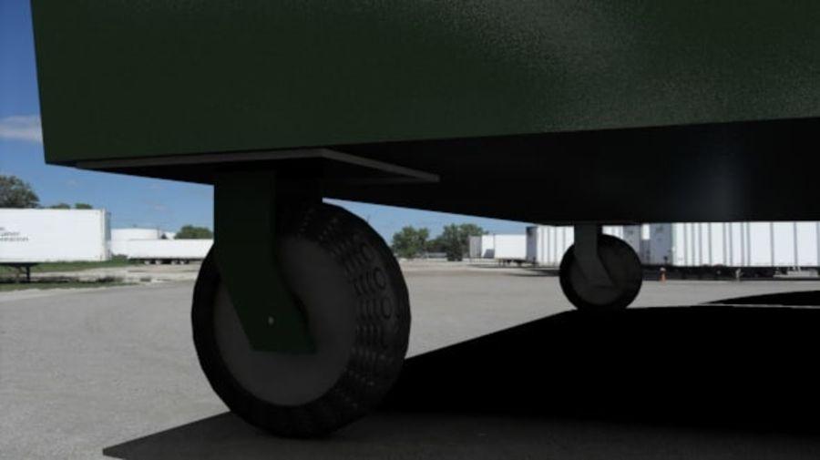 Контейнер для мусора (мусорный контейнер) royalty-free 3d model - Preview no. 4