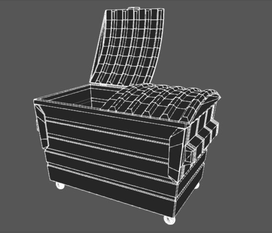 Контейнер для мусора (мусорный контейнер) royalty-free 3d model - Preview no. 5