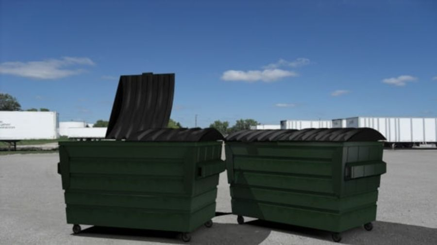 Контейнер для мусора (мусорный контейнер) royalty-free 3d model - Preview no. 3